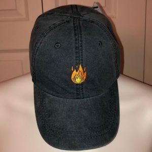 Strapback Flame Logo Dad Hat